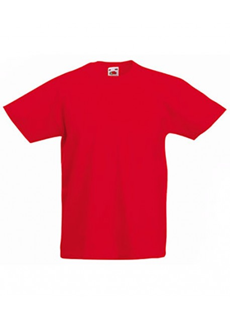 T-SHIRT JUNIOR fruit of the loom rouge